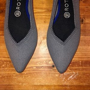 Rothy's Shoes - Rothy's Cloud Grey Birdseye Pointed Flats